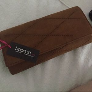 BooHoo Brown Clutch
